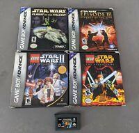 LOT Star Wars Flight Falcon Lego II Droid Nintendo Game Boy Advance GBA Complete