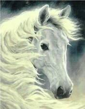 Midnight Glow - White Horse - Cross Stitch Chart - Free Postage