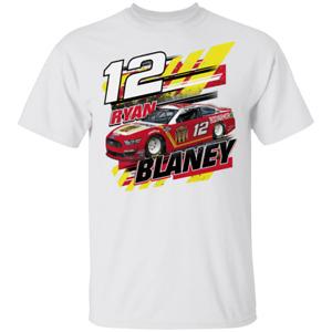 Men's Ryan Blaney Team Penske Graphic 2020 Short Sleeve White T-Shirt S-5XL