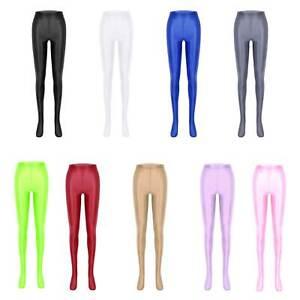 Femmes Transparente Leggings Collants Brillant Pantalons de Sport Yoga Danse