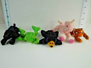 Animal Alley Toys R Us Small Plush Animals for McDonalds Lot of Five Figures
