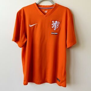 NIKE Holland 2014/2015 Netherlands Football Soccer Home Jersey Size L