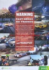 """Need For Speed Hot Pursuit Xbox 360 """"19th November"""" 2010 Magazine Advert #4599"""