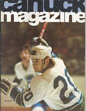 1975 NHL HOCKEY PROGRAM CHICAGO BLACK HAWKS VS VANCOUVER CANUCKS