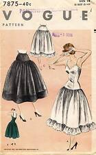 1950's VTG VOGUE  Misses' Slip and Petticoat Pattern 7875 Size 14 UNCUT FF