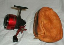 Vintage Garcia ABU 505 Fishing Reel Made in Sweden with Leather Storage Pouch