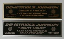 Demetrious Johnson UFC nameplate for signed mma gloves photo case