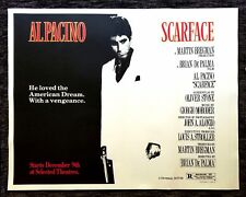 SCARFACE ✯ CineMasterpieces SUBWAY HUGE ORIGINAL MOVIE POSTER RARE GANGSTER 1983