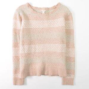 J Crew Crew Neck Lambs Wool Merino Sweater Pullover Womens M
