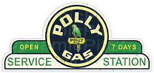 65x30cm Polly Gas Service Station Shield Tin Sign