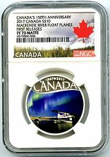 2017 $10 CANADA 150TH SILVER PROOF NGC PF70 FR MACKENIZIE RIVER FLOAT PLANES