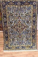 Perserteppich Orient Teppich Ghom Korkwolle mit Seide 156 x 105 Vogelmotive