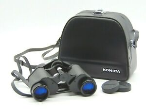 Vintage Konica 8 x 30 Field Binoculars, Fully Coated Optics in Case (AP120C)