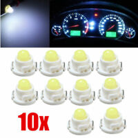 10x T4.7/T5 White Neo Wedge LED Bulb Dash Climate Control Instrument Base Lights