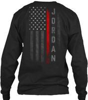 Jordan Family Thin Red Line Gildan Long Sleeve Tee T-Shirt