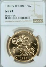 1985 GREAT BRITAIN GOLD 5 SOVEREIGN NGC MS 70 SCARCE PERFECTION DAZZLING COIN