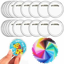 30 Pack Badge Making Kit Button Badge Acrylic Clear Button Badge with Pin