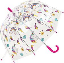 Girls pink clear dome unicorn umbrella by Susino