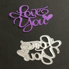 Love You Metal Cutting Dies Stencil DIY Album Stamp Paper Card Embossing Crafts