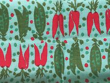 "Vintage Vera Neumann LINEN Kitchen Dish Towel NOS  vegetable print 16"" x 29"""