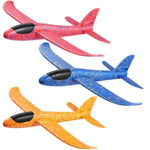 3x Kinder Styroporflugzeug Styroporflieger Wurfgleiter 48cm Flugzeug DHL XXL