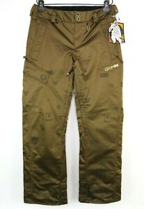 Volcom Conserve Womens Size S Snowboard Pants Brown