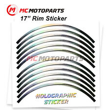 17'' Rim Laser Holographic Wheel Sticker For Ducati SuperSport S 2018-2020(Fits: Ducati GT)