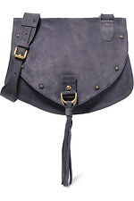 SEE BY CHLOÉ COLLINS SUEDE AND TEXTURED LEATHER BAG