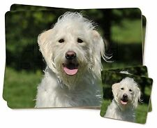 White Labradoodle Dog Twin 2x Placemats+2x Coasters Set in Gift Box, AD-LD3PC