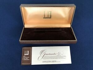 Vintage Dunhill Fountain Pen BOX ONLY w/ Instructions