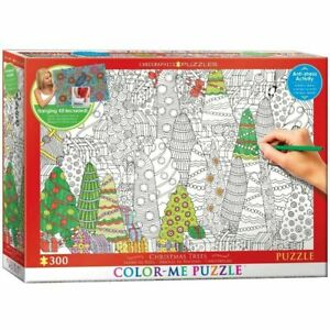 Eurographics 300 Piece Jigsaw Puzzle Colour-Me - Christmas Trees  EG60330886