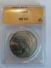 1928 P Peace Silver Dollar ANACS MS-63