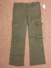 Dessous-Dessus Pants Cargo Sz 8 in Army (30x33)