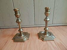 Vintage 1984 Chelsea Sea House Brass Candlesticks Nice Condition Some Tarnish