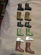 "Star Wars GI Joe 12"" 1/6 Scale Action Figure Doll Boot Shoe Lot A Black Brown"