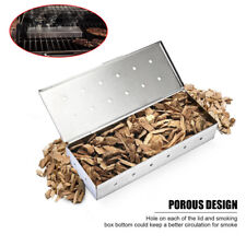 Stainless Steel Wood Chip BBQ Smoker Box Barbecue Smoking Case Accessories