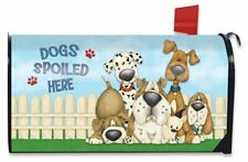 Dogs Spoiled Here Spring Magnetic Mailbox Cover Humor Puppies Standard