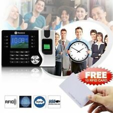 Realand Biometric Fingerprint Time Attendance Clock Tcp/ip USB 10pcs RFID Card
