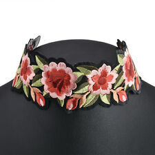 Charm Necklace Pendant Jewelry Gift Fashion Women&Girls Printed Flower Chunky