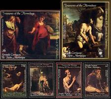 BIBLE PAINTINGS + 2 S/S MNH RUBENS, REMBRANDT, TITIAN (SEE FULL COLLECTION ALSO)