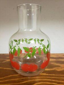 Mid-Century Modern Tomato Juice Carafe Jar Container Glass
