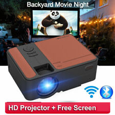New ListingPortable Smart Home Theater 4000:1 Wifi Blue tooth Projector Airplay Free Screen