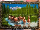 """Wall Tapestry Horses  made in Turkey  114"""" x 56"""""""