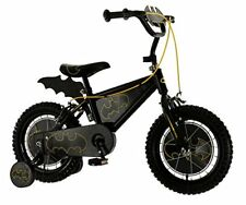 MV Sports Batman Boys Kids Bike Black, 14 inch, 1 speed bat-shaped plaque and
