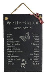 Schiefertafel Wetterstation wenn Stein Wetterstein Gartendekoration Wetterschild
