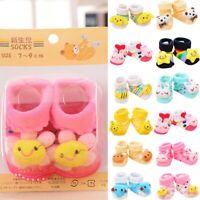 Cartoon Newborn Baby Girls Boys Anti-Slip Socks Slipper Shoes Boots
