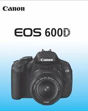 CANON EOS 600D 600 D German Instruction Manual DEUTSCH Bedienungsanleitung