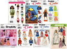 """Choice: Simplicity Fashion Doll Clothes Barbie™ 11½"""" 18"""" Craft Sewing Patterns"""