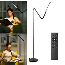 Modern LED Floor Lamp Reading Light Dimmable Remote Control Flexible Gooseneck