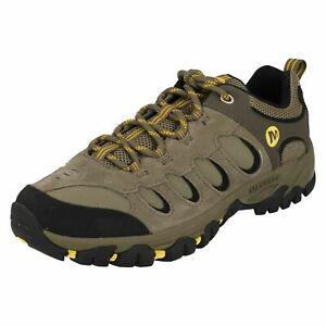 Mens Leather Lace Up Merrel Walking Shoe Trainers : Ridgepass Bolt J307955
